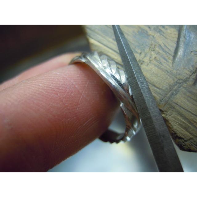 プラチナ 結婚指輪【本物の鍛造】荒削りのイーグルフェザーがお洒落で格好いい!イーグルの翼は愛の象徴! kouki 20