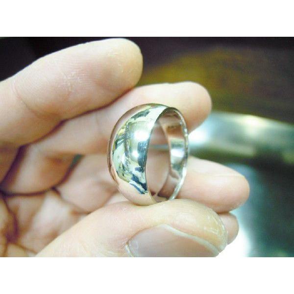 プラチナ 結婚指輪【本物の鍛造】幅広くて太い月形甲丸リング&鏡面でインパクト満点で格好いい! kouki 02