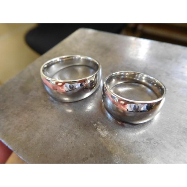 プラチナ 結婚指輪【本物の鍛造】幅広くて太い月形甲丸リング&鏡面でインパクト満点で格好いい! kouki 11