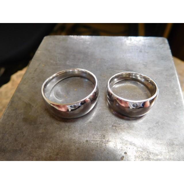 プラチナ 結婚指輪【本物の鍛造】幅広くて太い月形甲丸リング&鏡面でインパクト満点で格好いい! kouki 12