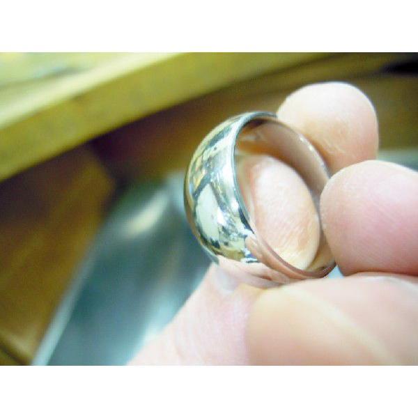プラチナ 結婚指輪【本物の鍛造】幅広くて太い月形甲丸リング&鏡面でインパクト満点で格好いい! kouki 03