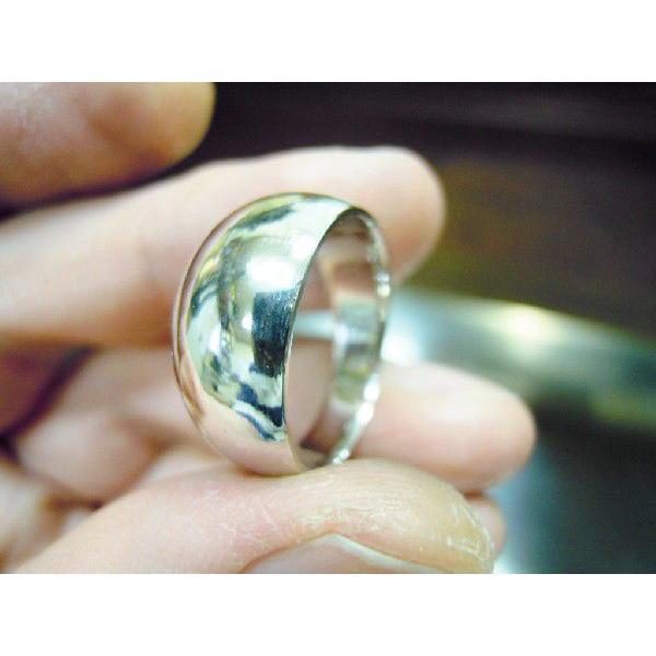 プラチナ 結婚指輪【本物の鍛造】幅広くて太い月形甲丸リング&鏡面でインパクト満点で格好いい! kouki 05