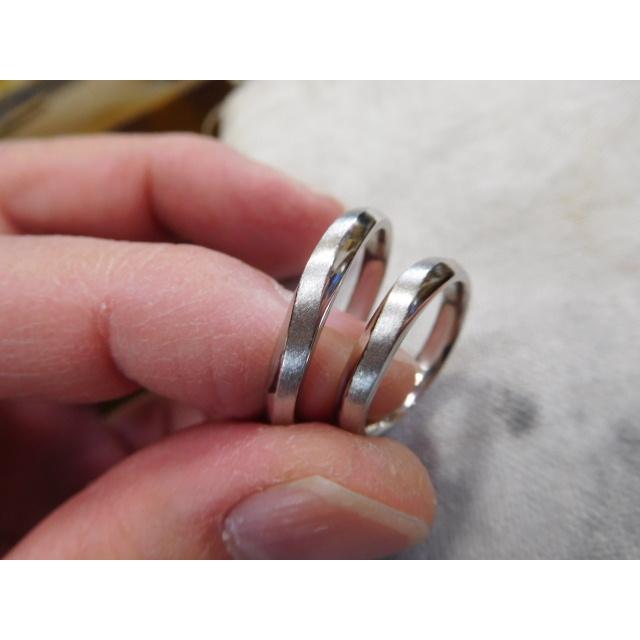 プラチナ 結婚指輪【本物の鍛造】メビウスのラインが繋がるLOVEデザイン!永遠に愛と絆が繋がります!|kouki|06