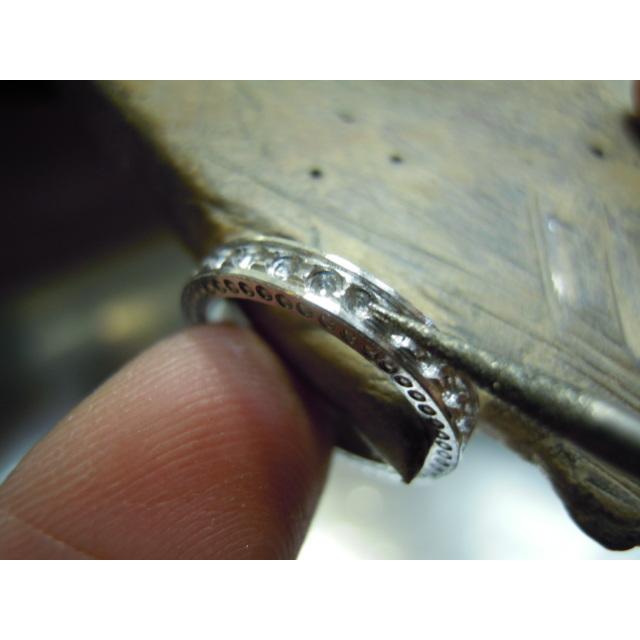プラチナ 結婚指輪【本物の鍛造】指輪の側面にミル打ち!女性用は鏡面のハーフエタニティリング&男性用は鏡面の平打ちリング kouki 18