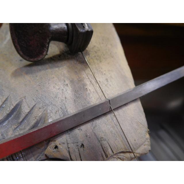 プラチナ 結婚指輪【本物の鍛造】太め鏡面の平打ちリング&フチにミル打ちを打ち込んだ美しいデザイン! kouki 13