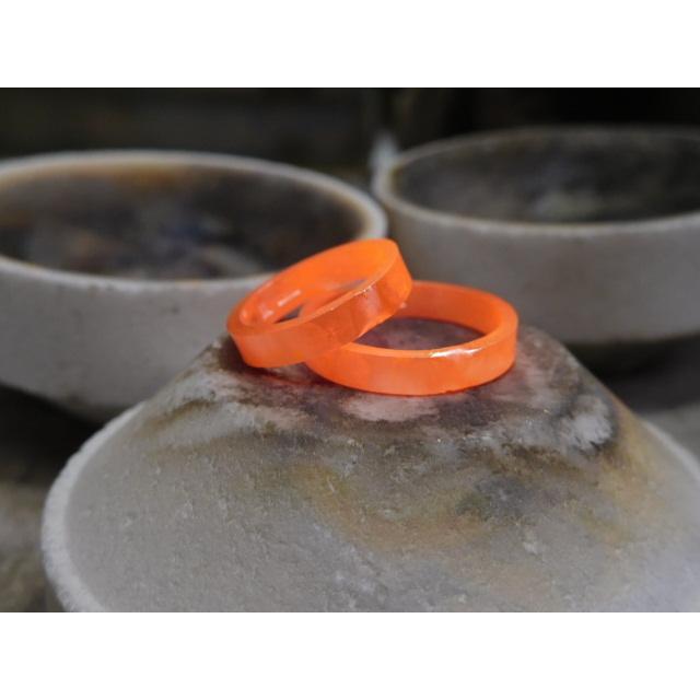プラチナ 結婚指輪【本物の鍛造】太め鏡面の平打ちリング&フチにミル打ちを打ち込んだ美しいデザイン! kouki 17