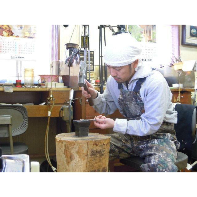 プラチナ 結婚指輪【本物の鍛造】太め鏡面の平打ちリング&フチにミル打ちを打ち込んだ美しいデザイン! kouki 09