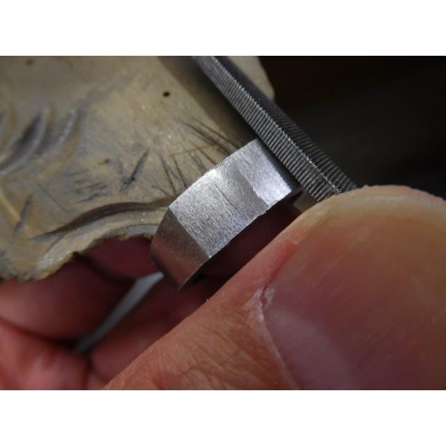 プラチナ 結婚指輪【本物の鍛造】使いやすいように薄めに作った横長角印台リング【鏡面仕上げ】シンプルなのにお洒落な印台デザイン! kouki 16