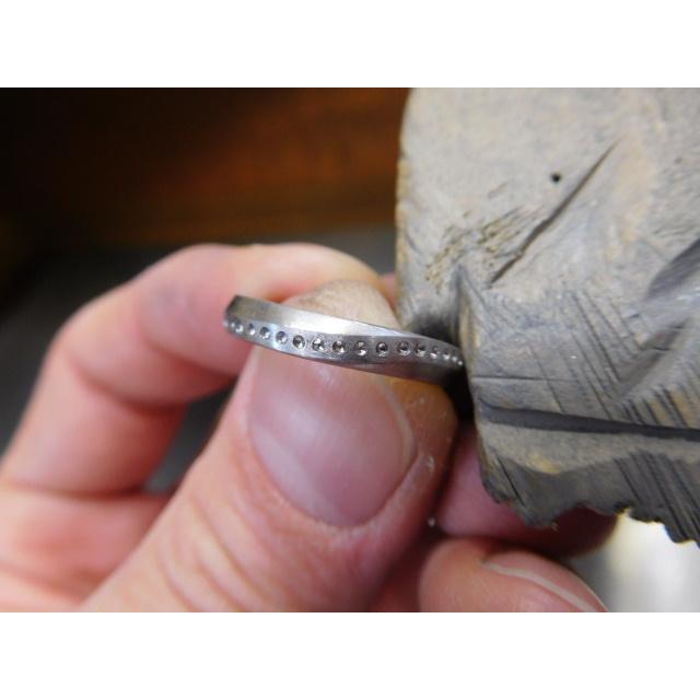 プラチナ 結婚指輪【本物の鍛造】LOVEが繋がるメビウス! 女性は美しいメビウスのエタニティ|kouki|17