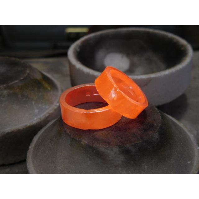 プラチナ 結婚指輪【本物の鍛造】極太の平打ちに艶消しの深い槌目が凄い! 男性7ミリ幅 女性6ミリ幅 kouki 13