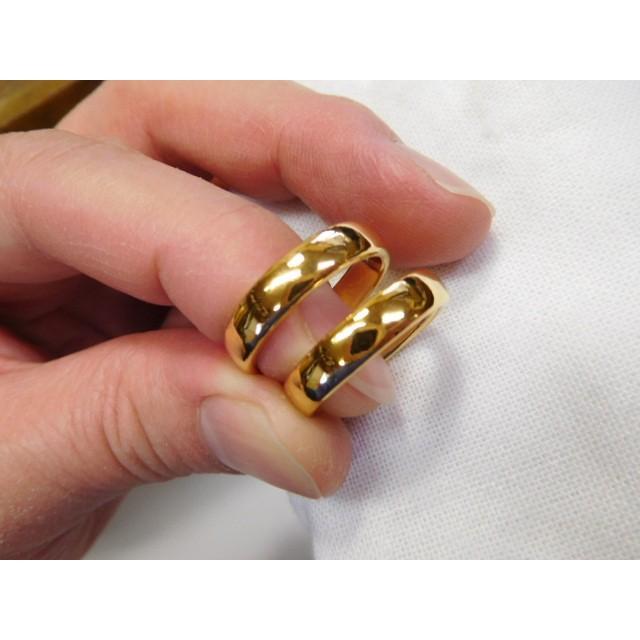 純金 結婚指輪【本物の鍛造】ツルツルに滑らかで着け心地の良さ抜群!シンプルな平甲丸 kouki 02