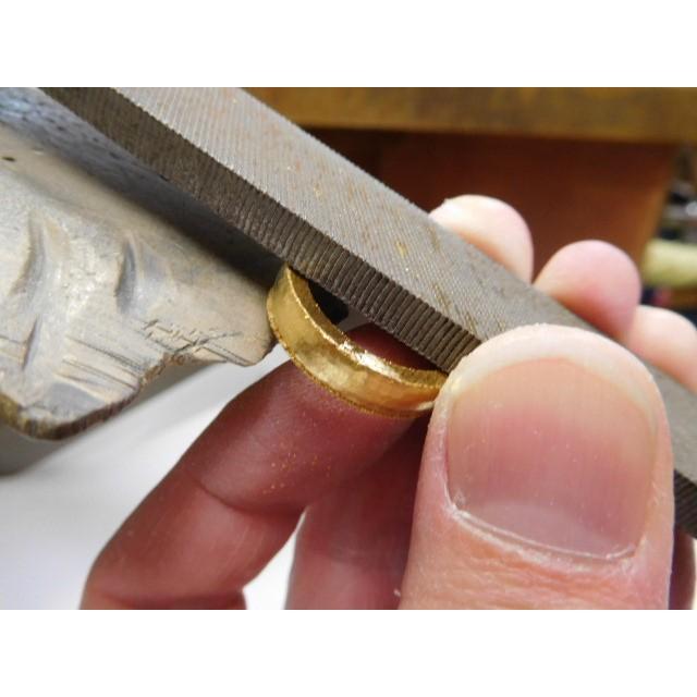 純金 結婚指輪【本物の鍛造】ツルツルに滑らかで着け心地の良さ抜群!シンプルな平甲丸 kouki 13
