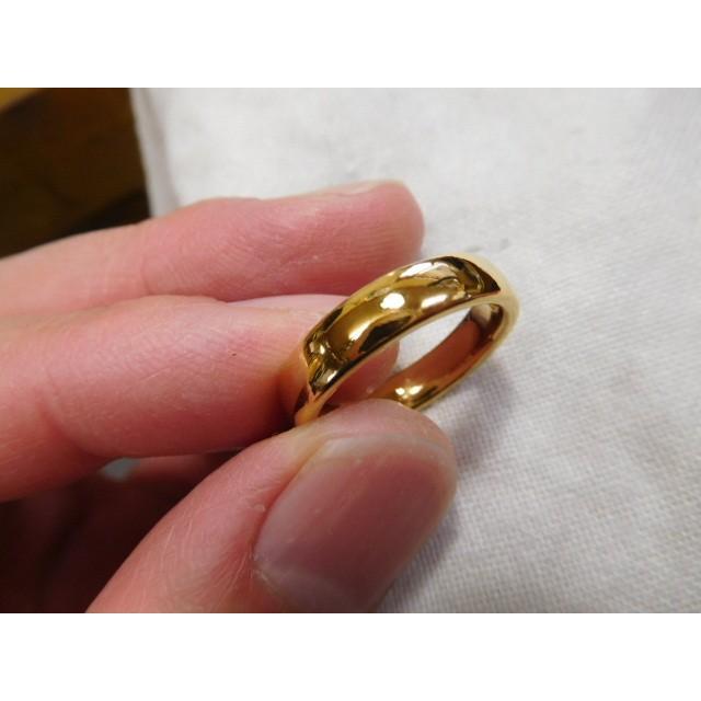 純金 結婚指輪【本物の鍛造】ツルツルに滑らかで着け心地の良さ抜群!シンプルな平甲丸 kouki 05