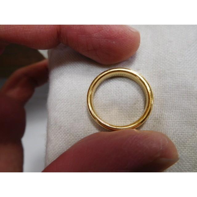 純金 結婚指輪【本物の鍛造】ツルツルに滑らかで着け心地の良さ抜群!シンプルな平甲丸 kouki 06