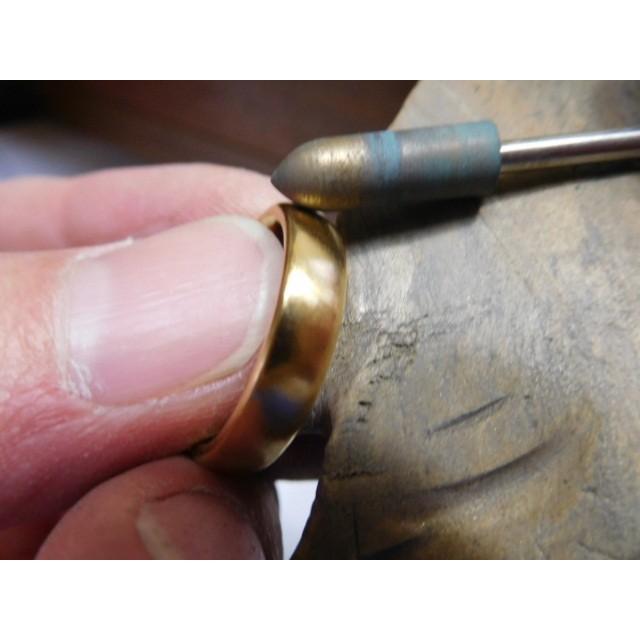純金 結婚指輪【本物の鍛造】ツルツルに滑らかで着け心地の良さ抜群!シンプルな平甲丸 kouki 08
