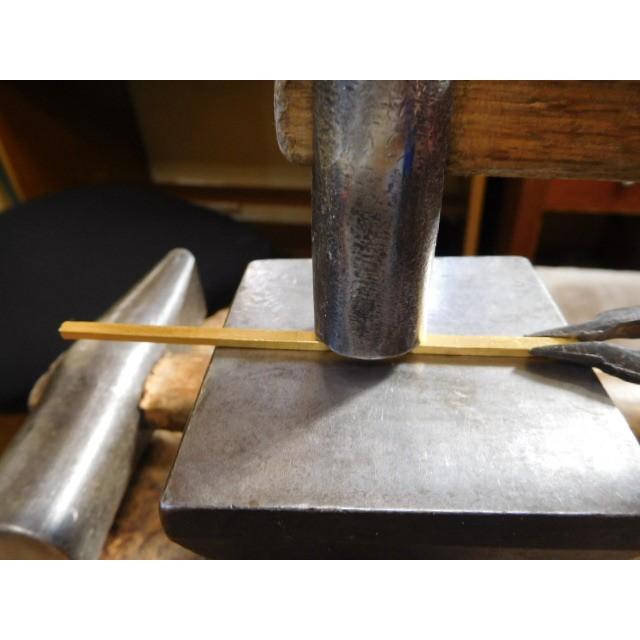 純金 結婚指輪【本物の鍛造】純金の槌目が美しい! シンプルな甲丸&幅3ミリ kouki 16