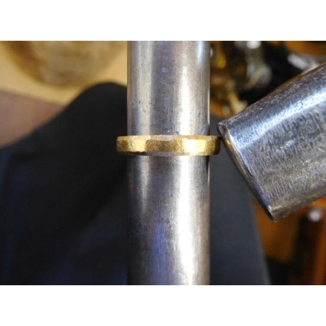 純金 結婚指輪【本物の鍛造】純金の槌目が美しい! シンプルな甲丸&幅3ミリ kouki 10