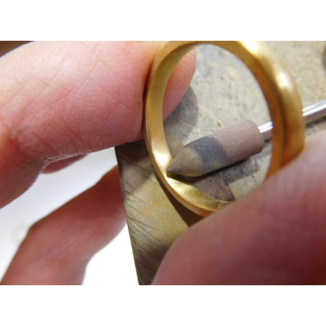 純金 結婚指輪【本物の鍛造】純金の荒仕上げが美しい!シンプルな甲丸&幅3ミリ kouki 06