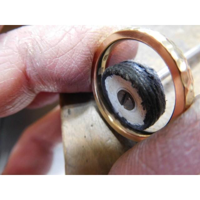 ゴールド 結婚指輪【本物の鍛造】槌目の甲丸&光沢 男性用3.5ミリ幅 女性用3ミリ幅|kouki|04