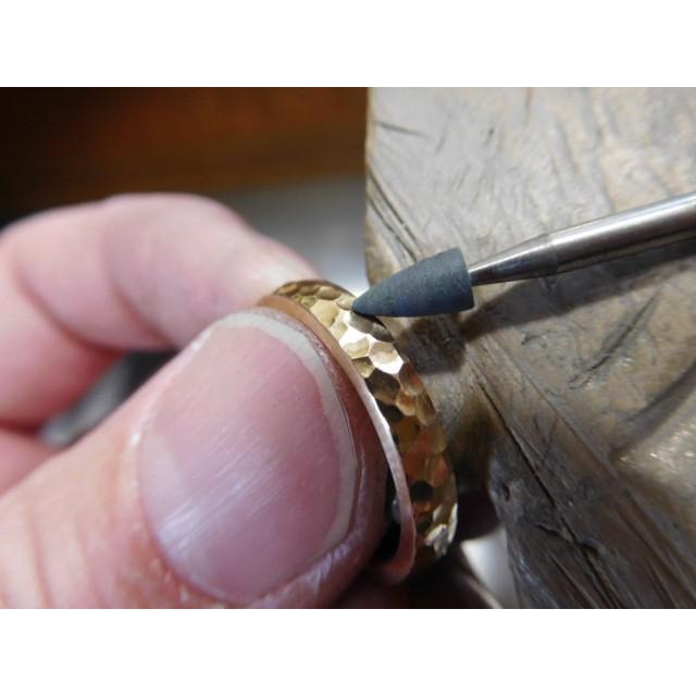 ゴールド 結婚指輪【本物の鍛造】槌目の甲丸&光沢 男性用3.5ミリ幅 女性用3ミリ幅|kouki|05