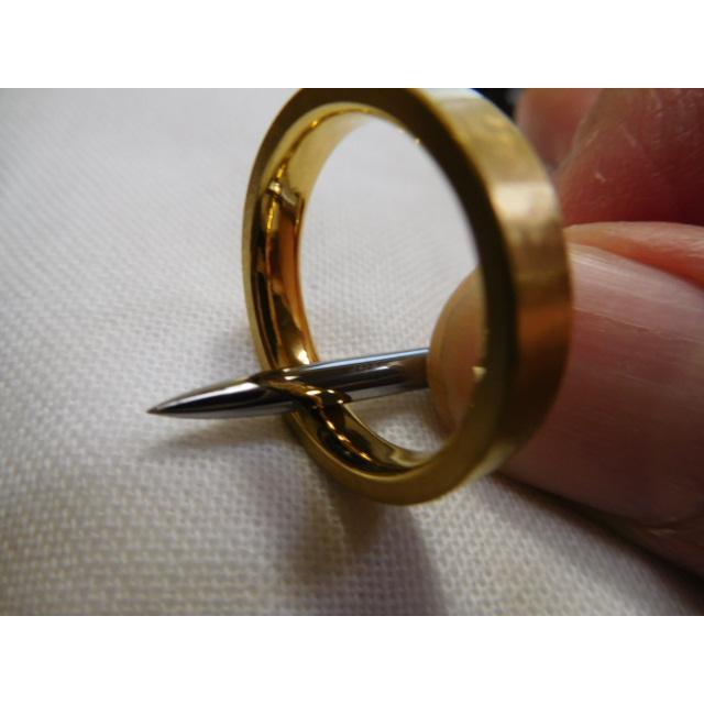 純金 結婚指輪【本物の鍛造】浅い槌目の艶消しが繊細で綺麗! 4ミリ幅の平打ちデザインがシンプルでGOOD|kouki|05