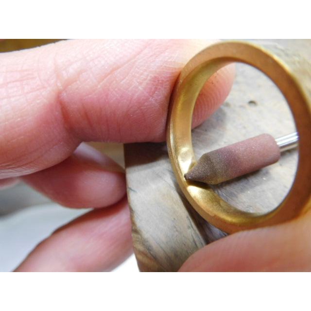純金 結婚指輪【本物の鍛造】浅い槌目の艶消しが繊細で綺麗! 4ミリ幅の平打ちデザインがシンプルでGOOD|kouki|06