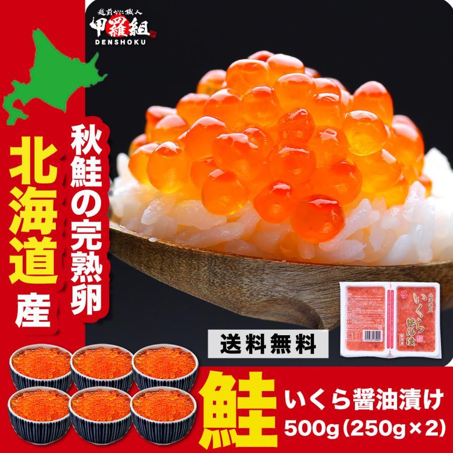 北海道産 極上 いくら醤油漬け 500g 約6人前 化粧箱入り 卸直営 父の日 値引き プレゼント