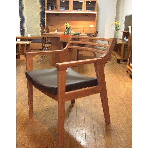 チェアー ダイニングチェアー 椅子 イス k−1ライン ブラックウォールナット無垢板チェア  座面レザー張り  座面レザー張り