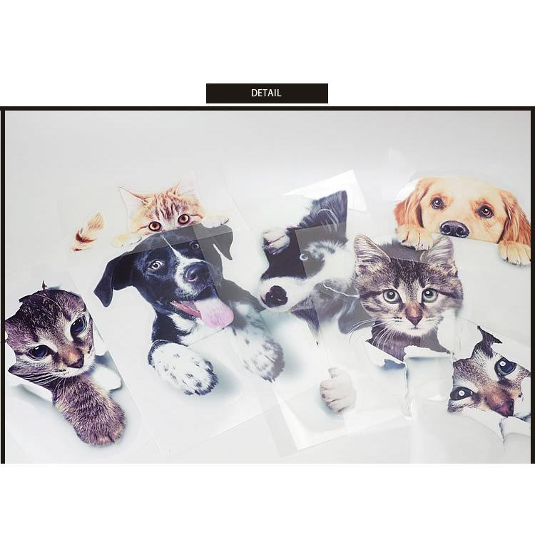 動物 カーステッカー アニマル 犬 猫 かわいい ドレスアップ 車 バイク カー用品 ステッカー|koyokoma|06