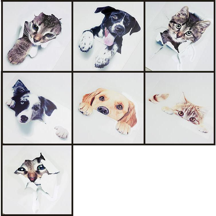 動物 カーステッカー アニマル 犬 猫 かわいい ドレスアップ 車 バイク カー用品 ステッカー|koyokoma|07