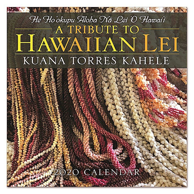 Sale! 送料無料!2020年 アイランドヘリテイジ社製 ハワイカレンダー 2020 A Tribute to Hawaiian Lei  Kuana Torres Kahele ハワイアン・レイ|koyomi10