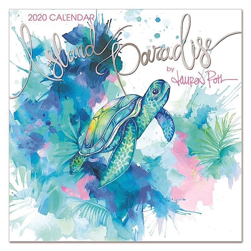 送料無料!2020年 アイランドヘリテイジ社 ハワイカレンダー 2020 Island Paradise  アイランド・パラダイス ハワイアン雑貨 koyomi10
