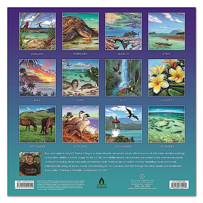 Sale! 送料無料!2020年 アイランドヘリテイジ社 ハワイカレンダー 2020 Naturally Hawaiian  ナチュラリー・ハワイアン ハワイアン雑貨|koyomi10|02