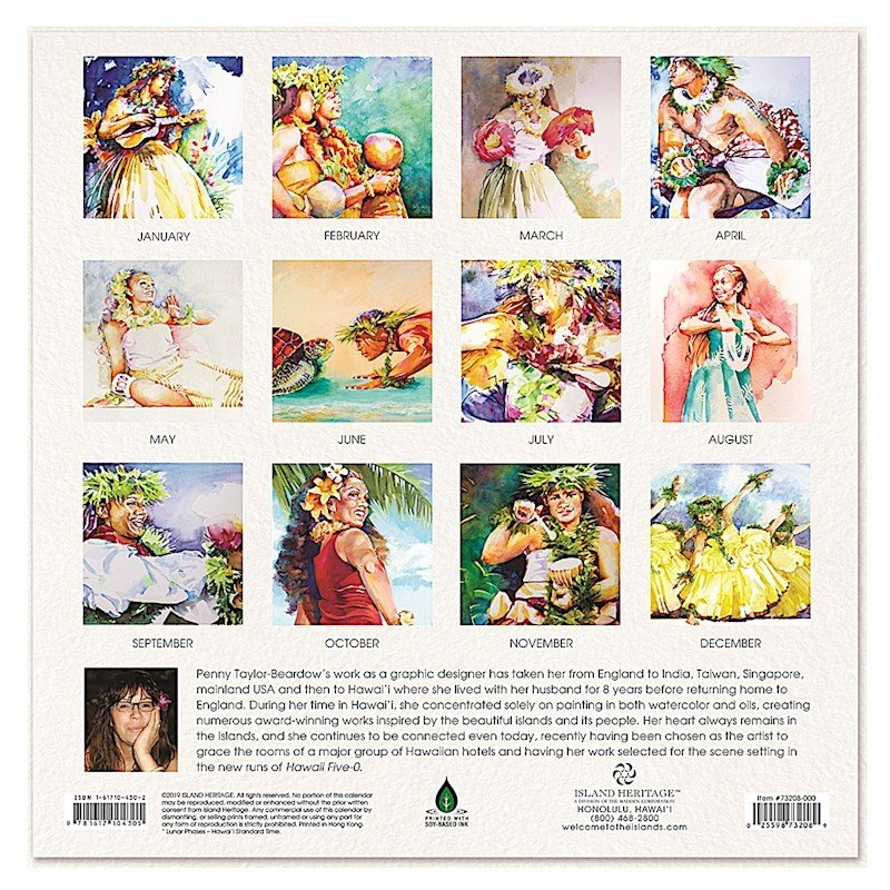 Sale! 送料無料!2020年 アイランドヘリテイジ社 ハワイカレンダー 2020 The Art of Hula フラの美 ハワイアン雑貨 koyomi10 02