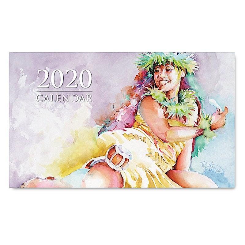 Sale! 送料無料! 2020年ハワイカレンダー(ミニサイズ)ハワイアンダイアリー/スケジュール帳/マンスリーカレンダー Hula Pahu  フラ・パフ koyomi10