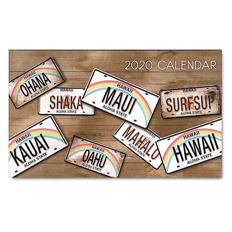 Sale! 2020年ハワイカレンダー(ミニサイズ)ハワイアンダイアリー/スケジュール帳/マンスリーカレンダー  License Plates ライセンス・プレート koyomi10