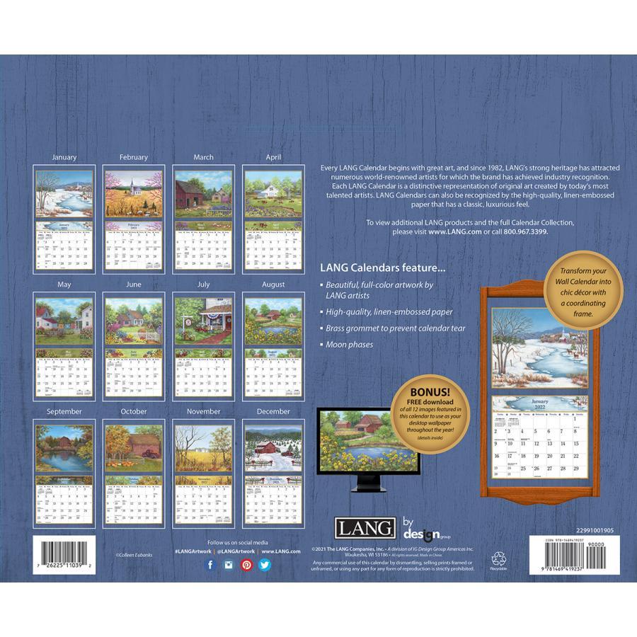 送料無料!2021年 ラング社カレンダー Country Living  カントリー・リビング Colleen Eubanks koyomi10 02