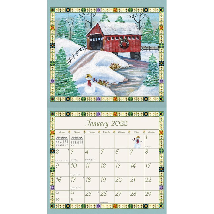 送料無料!2021年 ラング社カレンダー(Lang) Country Sampler  カントリー・サンプラー|koyomi10|03