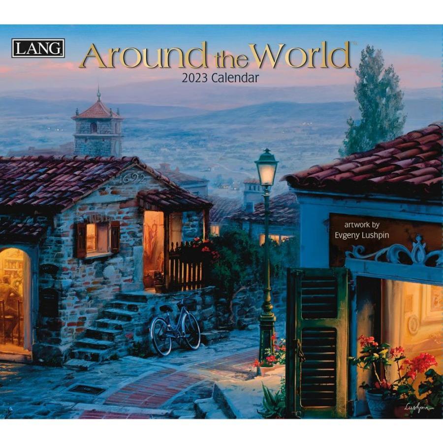 送料無料!2021年 ラング社カレンダー Around The World  アラウンド・ザ・ワールド  Evgeny Lushpin koyomi10