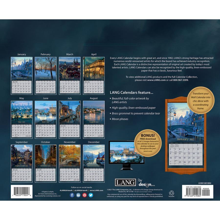 送料無料!2021年 ラング社カレンダー Around The World  アラウンド・ザ・ワールド  Evgeny Lushpin koyomi10 02