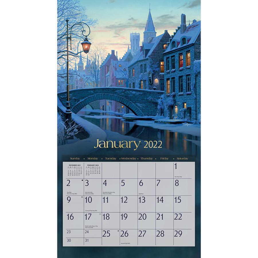 送料無料!2021年 ラング社カレンダー Around The World  アラウンド・ザ・ワールド  Evgeny Lushpin koyomi10 03