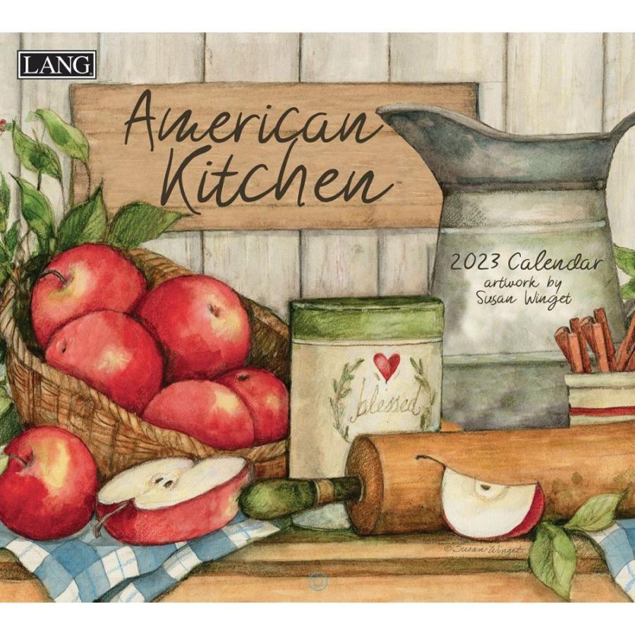 カバーにヤブレ有り 2021年 ラング社カレンダー Lang American Kitchen アメリカン・キッチン Susan Winget|koyomi10