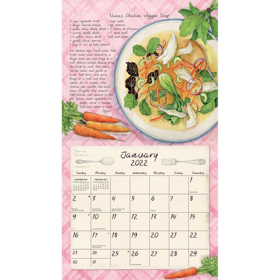 カバーにヤブレ有り 2021年 ラング社カレンダー Lang American Kitchen アメリカン・キッチン Susan Winget|koyomi10|03