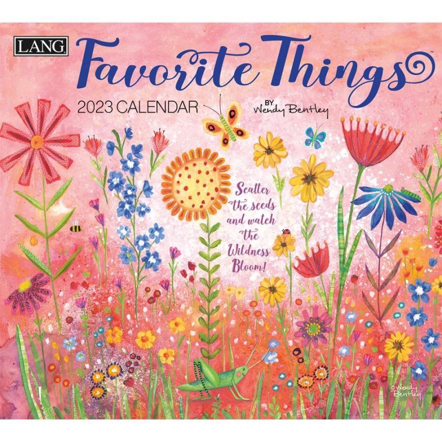送料無料!2021年 ラング社カレンダー(Lang) Favorite Things  フェイバレイト・シングス Wendy Bentley koyomi10