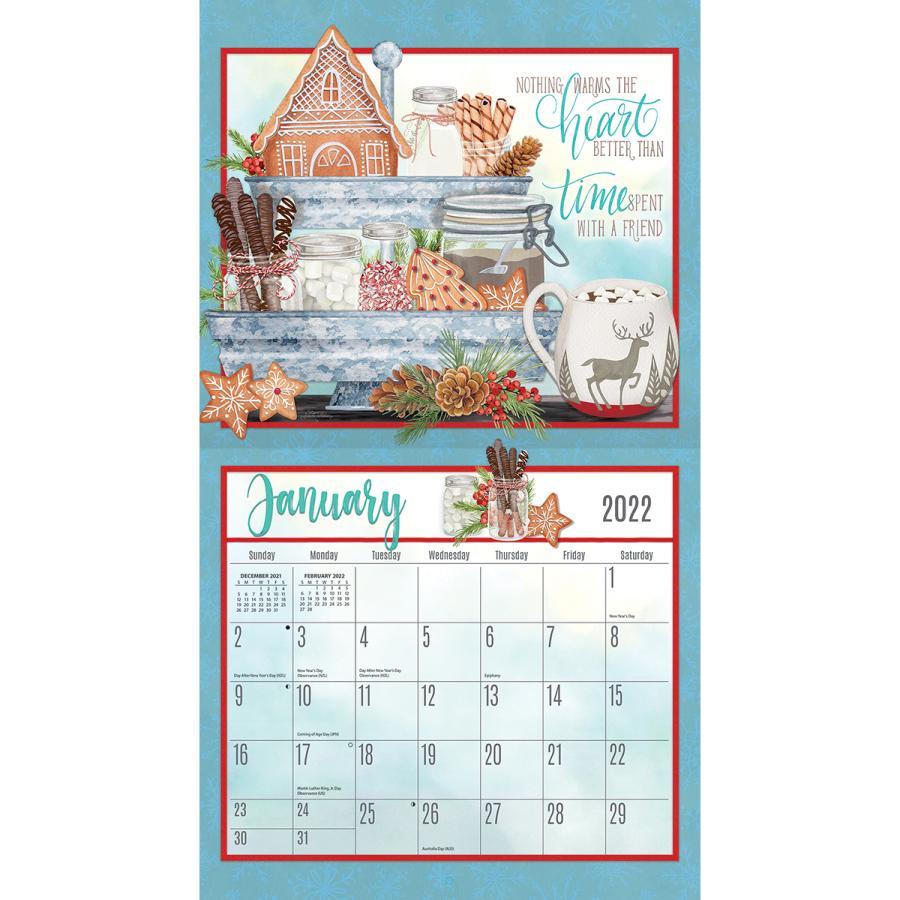 送料無料!2021年 ラング社カレンダー Abundant Friendship  アバンダント・フレンドシップ|koyomi10|03