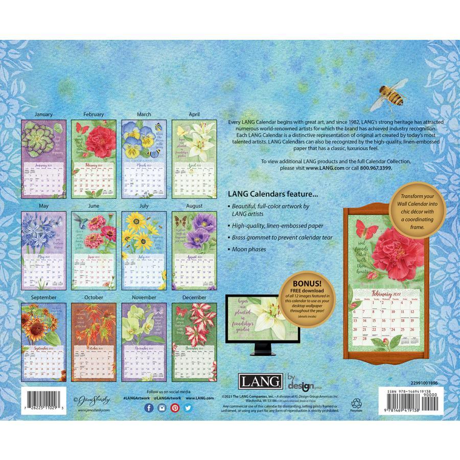 送料無料!2021年 LANG ラングカレンダー Botanical Inspiration  ボタニカル・ インスピレーション Jane Shasky|koyomi10|02