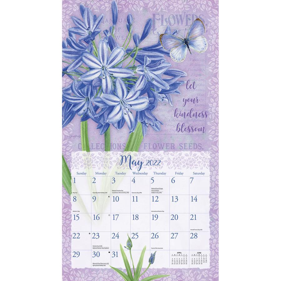 送料無料!2021年 LANG ラングカレンダー Botanical Inspiration  ボタニカル・ インスピレーション Jane Shasky|koyomi10|03