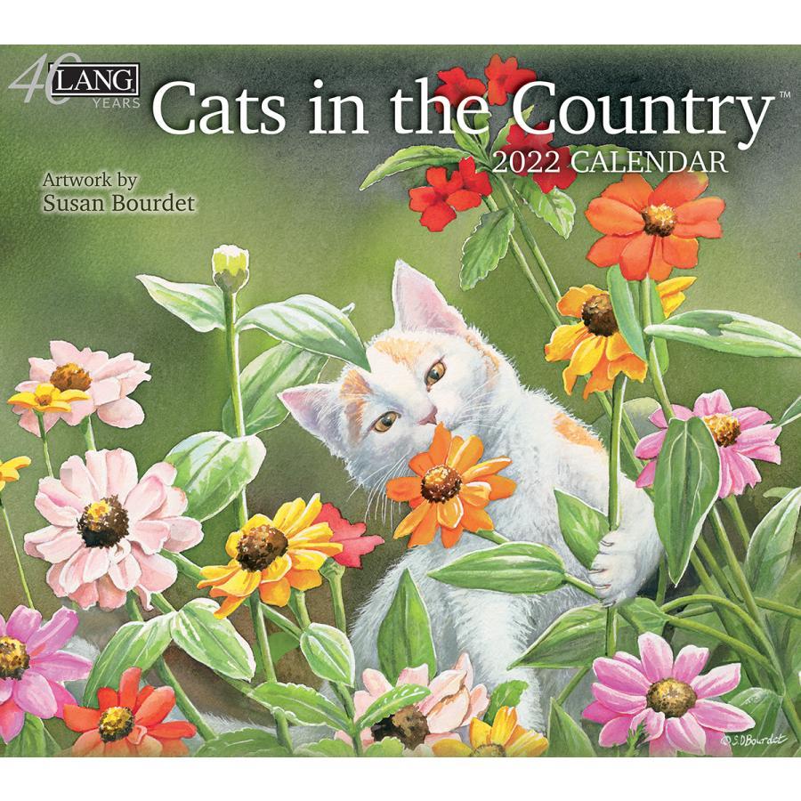 送料無料!2021年 ラング社カレンダー Cats In The Country    キャッツ・イン・ザ・カントリー Susan Bourdet|koyomi10