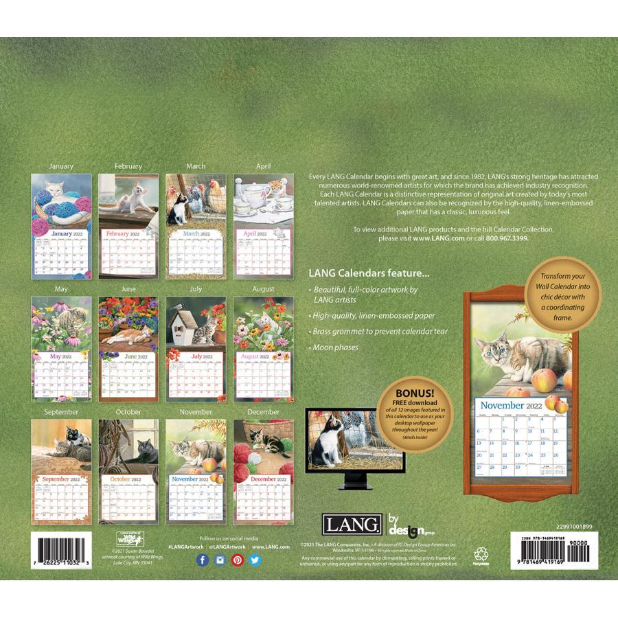 送料無料!2021年 ラング社カレンダー Cats In The Country    キャッツ・イン・ザ・カントリー Susan Bourdet|koyomi10|02