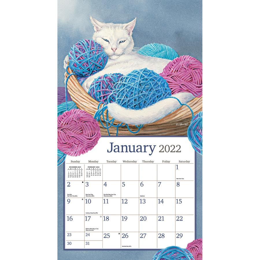 送料無料!2021年 ラング社カレンダー Cats In The Country    キャッツ・イン・ザ・カントリー Susan Bourdet|koyomi10|03